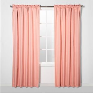 NWT 3pack eclipse coral pin blackout curtain